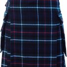 Waist 48 Traditional Mackenzie Tartan Highland Scottish Kilt-Skirt