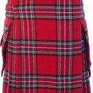 Waist 38 Traditional Highland Scottish Royal Stewart Tartan kilt-Skirt with Cargo Pockets