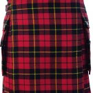 DE Waist 32 Traditional Wallace Tartan Highland Scottish Kilt-Skirt