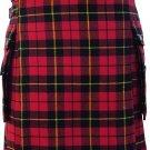 DE Waist 40 Traditional Wallace Tartan Highland Scottish Kilt-Skirt