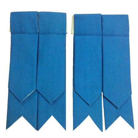 Brand New Scottish Kilt Hose Sock Flashes Blue Cotton