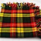 Highland Buchanan Tartan Fly Plaid Brand New Kilt Piper Fly plaid.