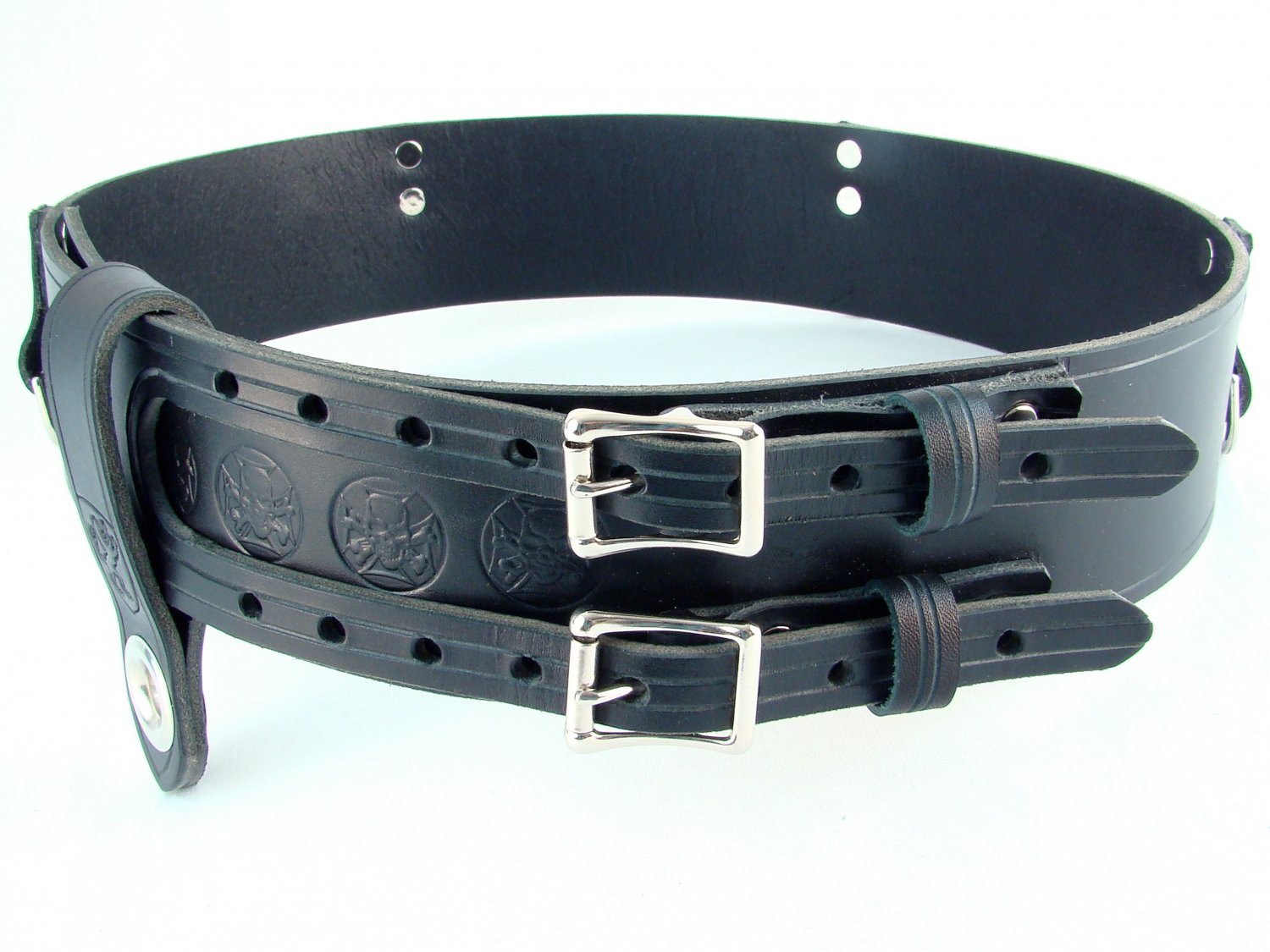 Size 32 Double Buckle Leather kilt Belt Thick Belt For Tartan and Utility kilts