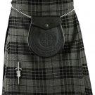 Waist 36 Gray Watch Tartan Kilt Traditional Highland Gray Watch 5 Yards Tartan Kilt