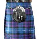 Highlands Pride of Scotland Tartan Kilt Traditional 8 Yards Tartan Kilt Fit to 46 Inches of Waist