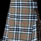 30 Size Highland Utility Kilt in Camel Thompson Tartan Scottish Cargo Tartan Kilt for Active Men