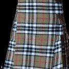 34 Size Highland Utility Kilt in Camel Thompson Tartan Scottish Cargo Tartan Kilt for Active Men