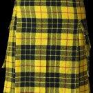 28 Size Highland Utility Kilt in McLeod of Lewis Tartan Scottish Cargo Tartan Kilt for Active Men