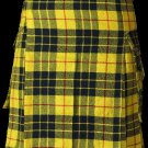 54 Size Highland Utility Kilt in McLeod of Lewis Tartan Scottish Cargo Tartan Kilt for Active Men