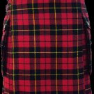 30 Size Highland Utility Kilt in Wallace Tartan Scottish Cargo Pocket Kilt for Active Men