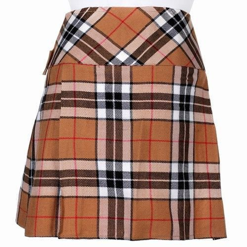 50 Inches Traditional Thompson Camel Tartan Highland Scottish Mini Billie Kilt Mod Skirt
