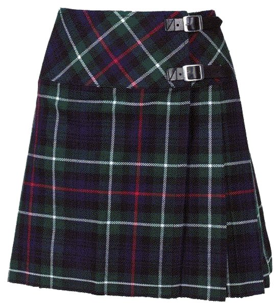 New Ladies MacKenzie Tartan Scottish Mini Billie Kilt Mod Skirt Size 50