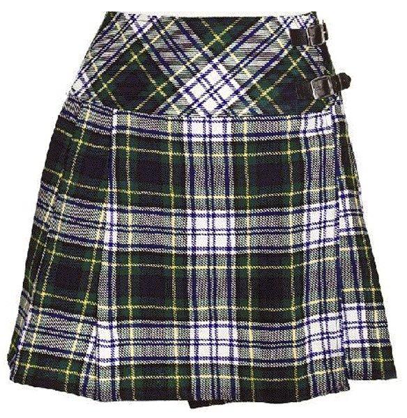 Ladies Dress Gordon Tartan Mini Billie Kilt Mod Skirt sz 26 waist Girls Mini Billie Skirt