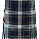 Ladies Knee Length Kilted Skirt, 58 sz Scottish Billie Kilt Mod Skirt in Dress Gordon Tartan
