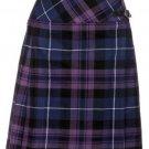 Ladies Billie Pleated Kilt 28 sz Knee Length Long Skirt in Pride of Scotland Tartan