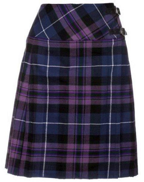 Ladies Billie Pleated Kilt 36 sz Knee Length Long Skirt in Pride of Scotland Tartan