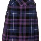 Ladies Billie Pleated Kilt 38 sz Knee Length Long Skirt in Pride of Scotland Tartan