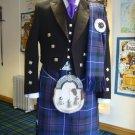 Size 32 7 pieces Pride of Scotland Tartan Kilt deal with Prince Charlie English Jacket