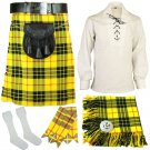 5 Pcs McLeod of Lewis Traditional Tartan kilt-Skirt Deal outfit Made to Measure Size 48