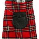 Waist 48 Royal Stewart Tartan Kilt Traditional Highlands, Royal Stewart 5 Yards Tartan Kilt