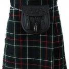 Size 32 Mackenzie Tartan Kilt Traditional Highlands Mackenzie 5 Yards Tartan Kilt
