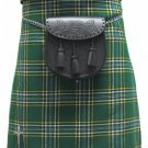 Size 40 Irish National Tartan Kilt Traditional Highlands Irish National 5 Yards Tartan Kilt