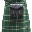Size 34 Irish National Tartan Kilt Traditional Highlands Irish National 5 Yards Tartan Kilt