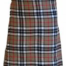 48 Waist Size Camel Thompson Tartan Kilt Traditional Highland Camel Thompson Kilt Scottish 5 Yards