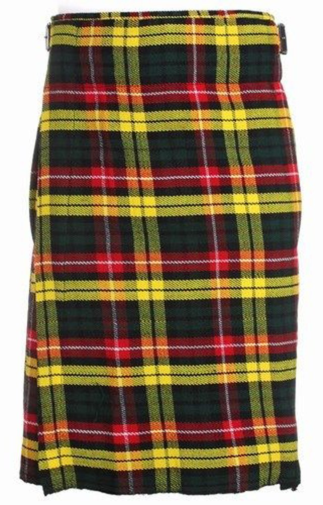 34 Size Traditional Highland Buchanan Tartan Kilt Scottish Traditional Buchanan Tartan Kilt 5 Yards