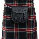 DE: Size 34 Traditional Highland Black Stewart Tartan Kilt Scottish Black Stewart  Kilt