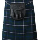 Size 38 Traditional Highland Blue Douglas Tartan Kilt Scottish Blue Douglas Kilt 5 Yards