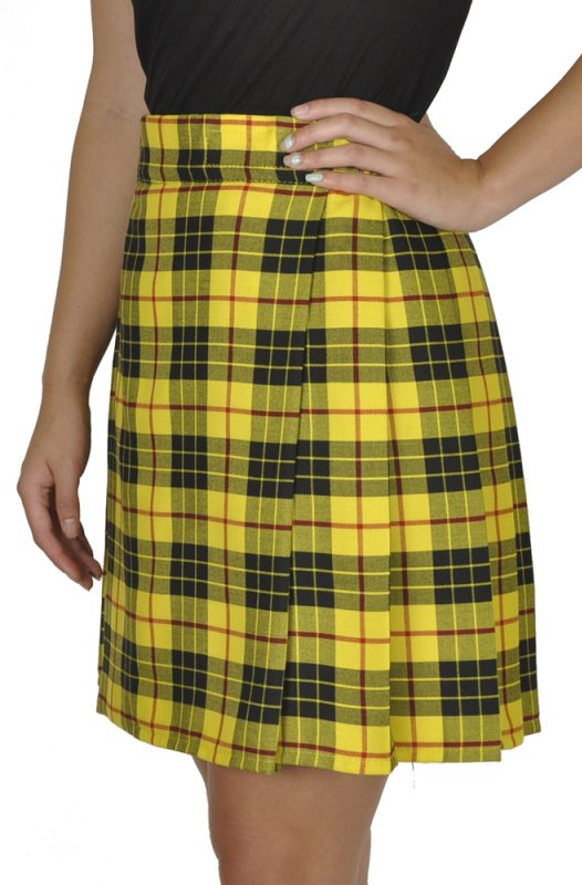 Ladies Billie Pleated Kilt 64 sz Knee Length Long Skirt in McLeod of Lewis Tartan