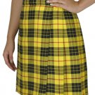 Ladies Billie Pleated Kilt 60 sz Knee Length Long Skirt in McLeod of Lewis Tartan