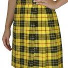 Ladies Billie Pleated Kilt 36 sz Knee Length Long Skirt in McLeod of Lewis Tartan