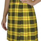 Ladies Billie Pleated Kilt 32 sz Knee Length Long Skirt in McLeod of Lewis Tartan