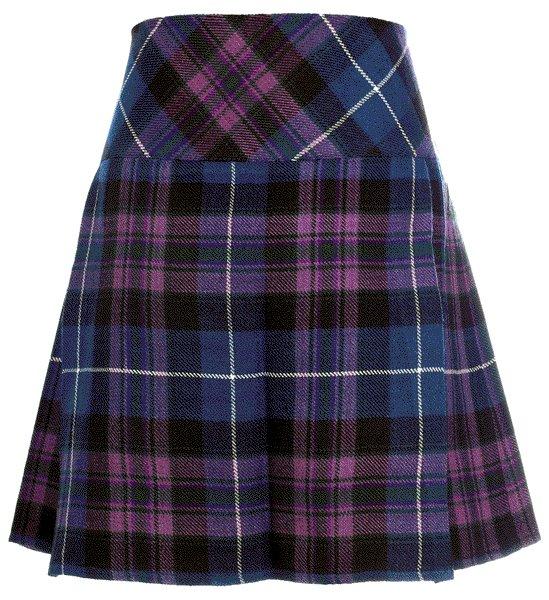 Ladies Pride of Scotland Tartan Scottish Micro Mini Billie Pleated Kilt W44