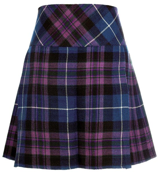 Ladies Pride of Scotland Tartan Scottish Micro Mini Billie Pleated Kilt W42