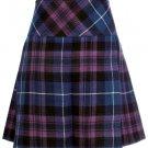 Ladies Pride of Scotland Tartan Scottish Micro Mini Billie Pleated Kilt W42