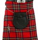 Scottish Traditional Kilt Royal Stewart Tartan Waist 50 Inches Size Highland 5 Yard Tartan Skirt