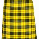 Custom Size McLeod of Lewis Highland Tartan Kilt Waist 46 Size Traditional 8 Yard Tartan Skirt