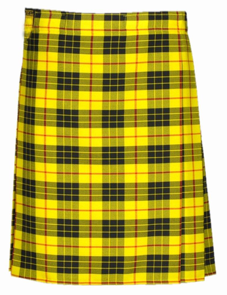 Custom Size McLeod of Lewis Highland Tartan Kilt Waist 34 Size Traditional 8 Yard Tartan Skirt