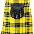 New Highland McLeod of Lewis Waist 48 Size Skirt Scottish Men Traditional 8 Yard Tartan Kilt