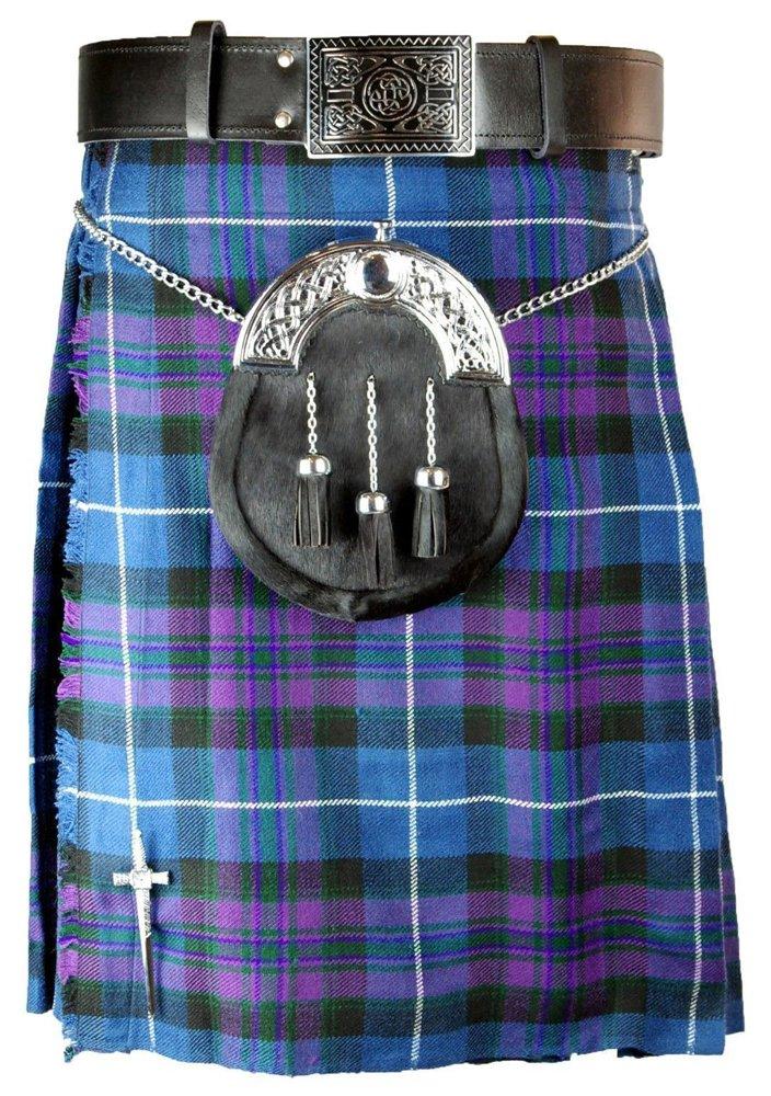 30 Size Pride of Scotland Tartan Kilt Traditional Highlands Pride of Scotland 5 Yards Tartan Kilt