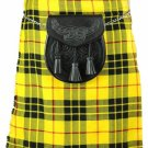 "Deluxe Scottish Highland 5 Yard Kilt Traditional McLeod of Lewis Tartan Kilt Fit To 46"" Waist"