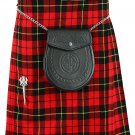 Men's 5 Yard Wallace Tartan Kilt Size 26 Waist Traditional Highlander Wallace Tartan Wool Blend