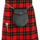 Men's 5 Yard Wallace Tartan Kilt Size 28 Waist Traditional Highlander Wallace Tartan Wool Blend