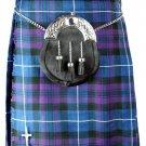 Pride of Scotland Pleated Kilt Highland Dress Skirt Waist 52 Size Handmade 5 Yard Tartan Skirt