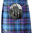 Pride of Scotland Pleated Kilt Highland Dress Skirt Waist 54 Size Handmade 5 Yard Tartan Skirt