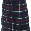 Custom Size Mackenzie Highland Tartan Kilt Waist 44 Size Traditional 5 Yard Tartan Skirt