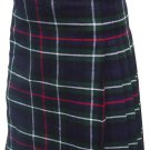 Custom Size Mackenzie Highland Tartan Kilt Waist 46 Size Traditional 5 Yard Tartan Skirt